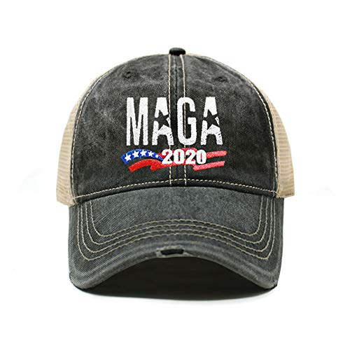 MAGA Hat Make America Great Again Baseball Trucker Hat (Unisex) | Trump Rally Campaign (MAGA Distressed TC102 Charcoal x1)