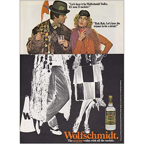 - RelicPaper 1970 Wolfschmidt Vodka: Lets Hear It Rah Rah, Wolfschmidt Vodka Print Ad