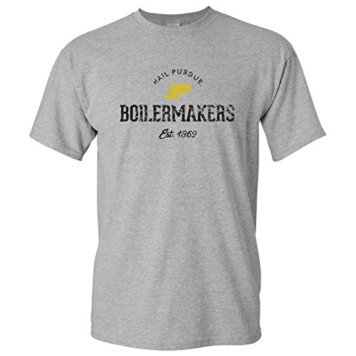 UGP Campus Apparel AS06 - Purdue Boilermakers Established Arch Logo Mens T-Shirt - X-Large - Sport Grey ()