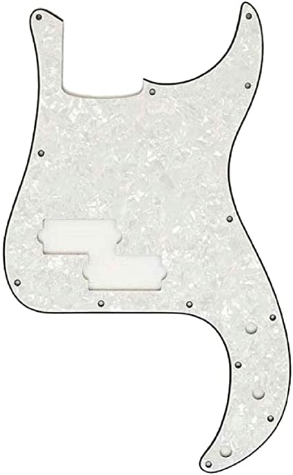 3-Ply Bass WHITE PEARLOID NEW Pickguard For P