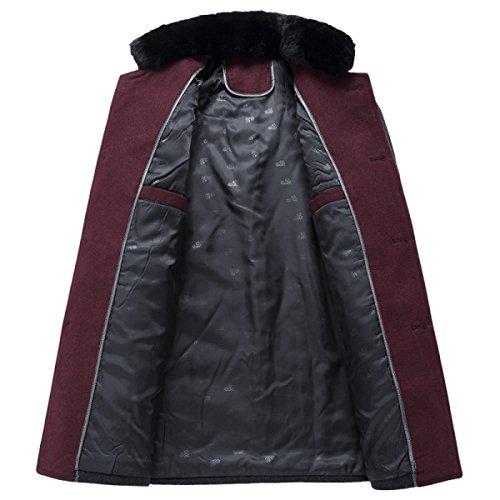 Jacket Jacket Jacket Mantel Vento Business Mens Winterwear Black Winterjacke Winterjacke Winterjacke Winterjacke Lana Giacca A In Lana Cappotto Winterjacke Herren Warme Collare Outwear Coat Wintermantel 5U8fq6A6w