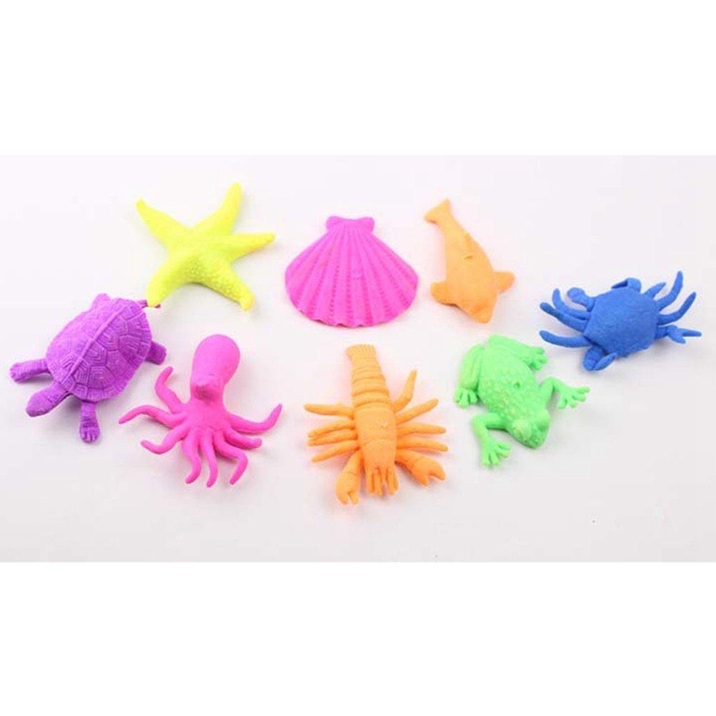 Random TOYMYTOY 24pcs Dinosaur Marine Animals Shaped Toys Wate Bibulous Grow Inflation Toy