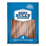 Best Bully Sticks - Supreme 6-inch Bully Sticks (50 Pack) - All-Natural Dog Treats