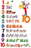 Educational Childrens Numbers 1 to 10 Grande affiche PAPIER- poster - Dimensions 91.5 x 61 cm (environ)