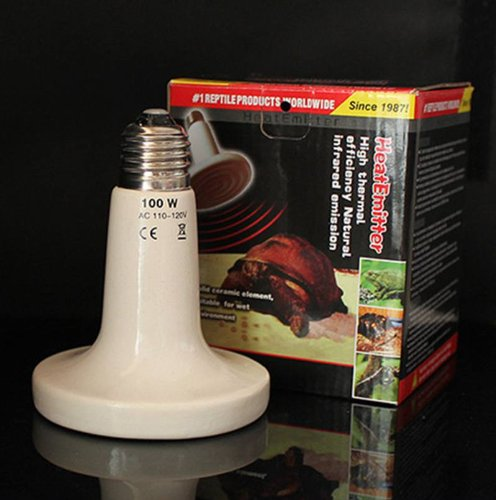 Care Deluxe Heat Rock - 110V Ceramic Emitter Heat Lamp Grow Plant Lamp Zoo Turtle Pet Reptile Heater 200W Watts (white)