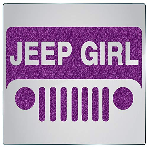Leaf Design Wall Grille - DecalDoggy - Jeep Girl Grille 1 Vinyl Decal Car/Wall - Purple Glitter