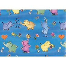 Susy Card 11273893 Gift Wrapping Paper 30 m with Elephant Design