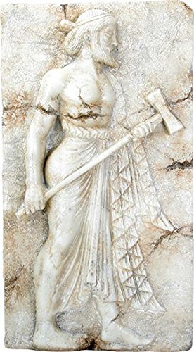 Ebros Vulcan Roman Relief from Herculaneum Wall Plaque Large 16.5