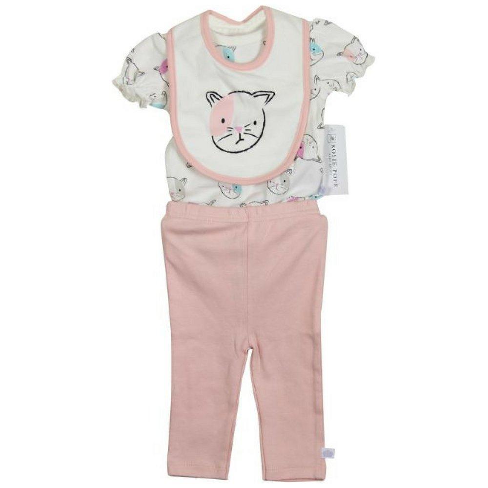 5bdbf6048d Amazon.com  Rosie Pope Cat Print Three Piece Set  Clothing