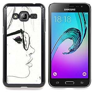 - Glasses White Hipster Smart Sketch Woman - - Monedero pared Design Premium cuero del tir???¡¯???€????€??????????&fn