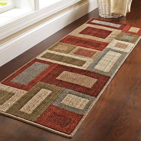 Zen Garden Rug (Better Homes and Gardens Franklin Squares Olefin Runner Rug)