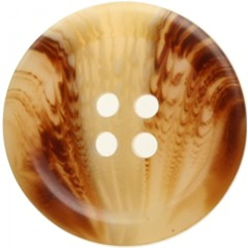 Hemline Round Tortoise Shell Pattern Buttons Cream - per pack of - Shells Tortoise