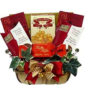 Thoughtful Wishes Cookie and Sweets Gift Basket (Chocolate Option)
