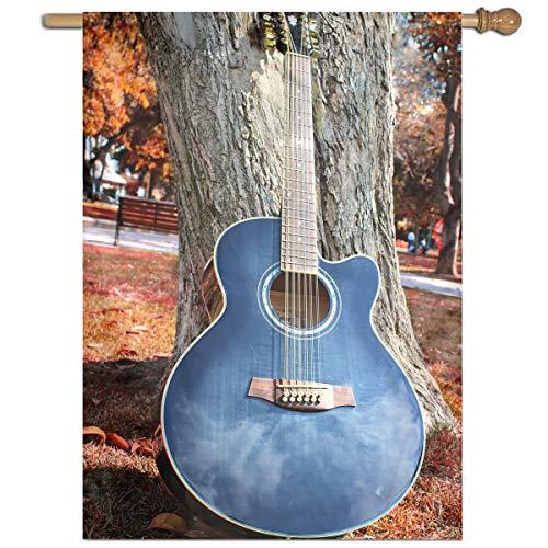 YUANSHAN Single Print Home Garden Flag Blue Tree