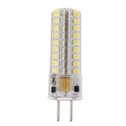 Starnearby Bombillas halógenas LED de cristal, GY6.35 AC 12 V regulable SMD2835 72