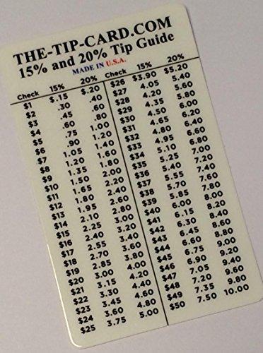 Pocket Card Tip Table Calculator Calc