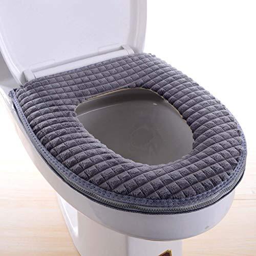 Yuzhijie Toiletbril vier seizoenen diamant fluwelen haak- en luswc-bril verdikt zachte toilethoes U-vormige comfortabele…