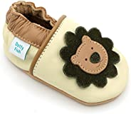Dotty Fish Soft Leather Baby Shoes with Non Slip Suede Soles. Toddler Shoes. Animal, Transport and Star Design