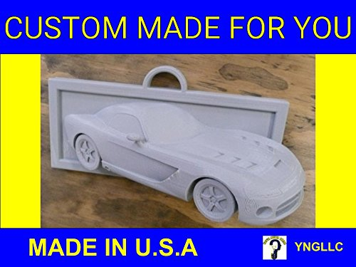 YNGLLC Raised Dodge Viper Sports Car Coming Out of Wall Home or Office Decor 3D Printed - Made in USA PR87 (Large: 9
