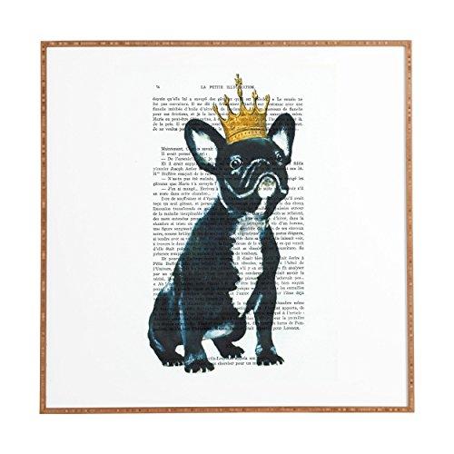 Paris,  Bulldog King, Framed Wall Art, Small, 12