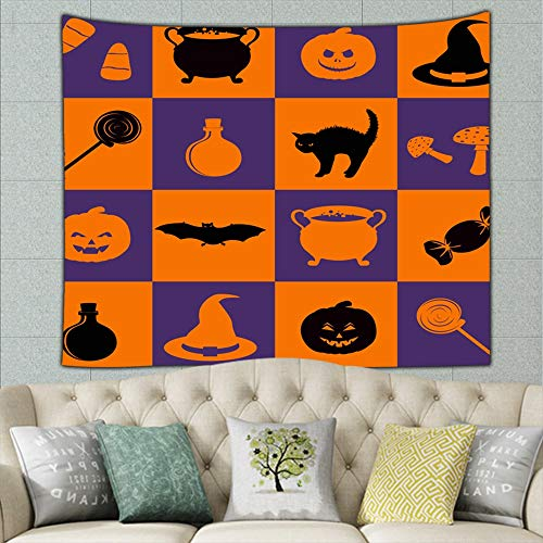 best bags Halloween Holiday Related Objects Accessory Holidays Mural for Bedroom Living Room Dorm Home Décor 90 X 60 Inches]()