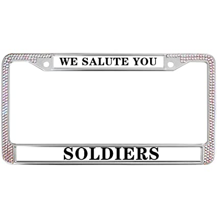 Amazon.com: GND Car License Plate Frame,WE Salute You Soldiers ...