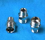 Pipe 1/4' NPT Male X M12 M12X1 Male Metric Adapter Fitting Oil Fuel Air