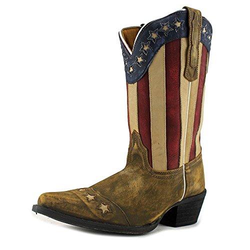 Dan Post Kids Unisex Lil' Liberty (Big Kid) You Tan Stars & Stripes Boot 5.5 Big Kid M