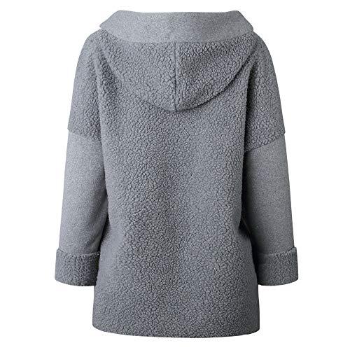 Femmes Pull Femme Manches over Sweat À Longues xinantime shirt Blouse Zipper Les Chemises Gris Manteau Capuche RtTdzqzn