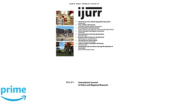 Amazon com: International Journal of Urban and Regional