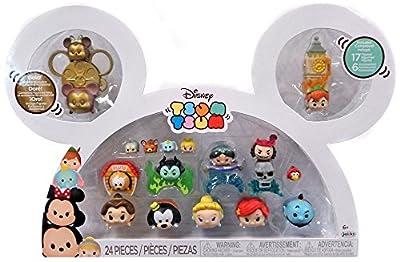 Disney tsum tsum 17 figure box set peter pan belle genie ariel cinderella pluto goofy jasmine jack sparrow
