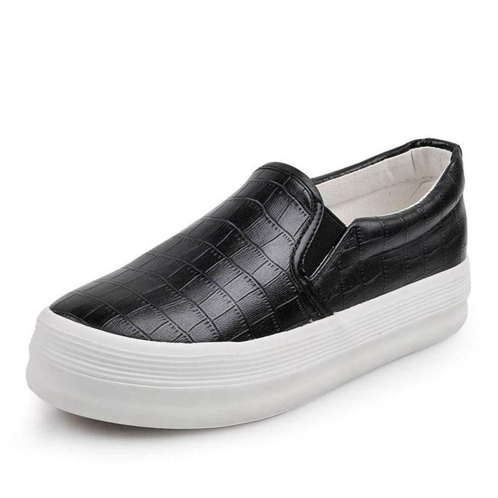 Femme Chaussure de Casual Tendance Chaussure de Cuir Enfiler Mocassin Loafer Casual Compensé Chaussure Basket Mode a Enfiler Confortable 35-40 Noir 46ce961 - deadsea.space