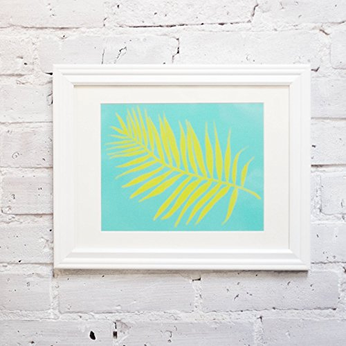 (Citron Palm Leaf Print 8
