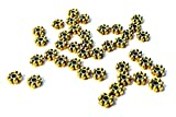200pcs Antique Gold Daisy Spacer Metal Beads 4mm ~Jewelry Making
