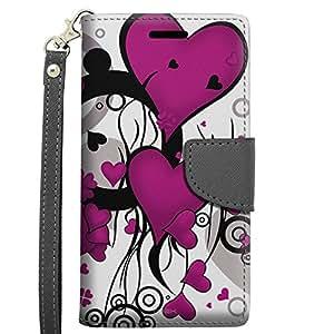 Alcatel OneTouch Fierce 2 Wallet Case - Pink Heart Clip Art