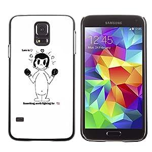 Snap-on Series Teléfono Carcasa Funda Case Caso para Samsung Galaxy S5 , ( Love Is )