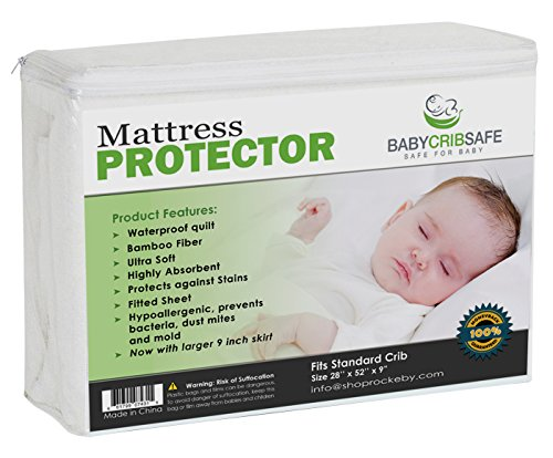 Best Crib Mattress Pad Protector 100% Money Back Guarrantee