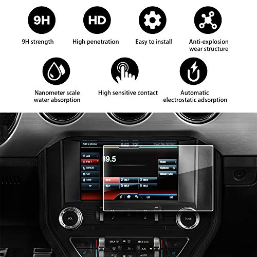 YEE PIN 2015 2016 2017 2018 2019 Ford Mustang GT350 sync 2 sync 3 App Link My Ford 8 inch Navigation Hardened Film by YEE PIN