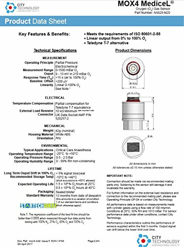CITY MOX-4 Oxygen Sensor O2 Sensor Oxygen battery O2 oxygen sensor MOX-4 oxygen battery AA829-M20