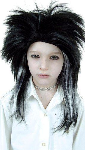 Cesar D139 Billy Tokio Hotel, A Black and White Wig for Adult]()