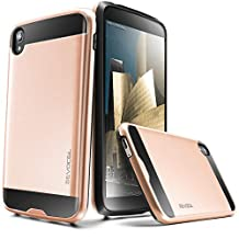 "Evocel® Alcatel OneTouch Idol 3 (5.5"") Case [Hybrid Lite Series] Slim Protector Case [Brushed Metal Texture][Slim][Shiny] For Alcatel OneTouch Idol 3 (5.5""), Rose Gold (EVO-ALIDOL55-MS25)"