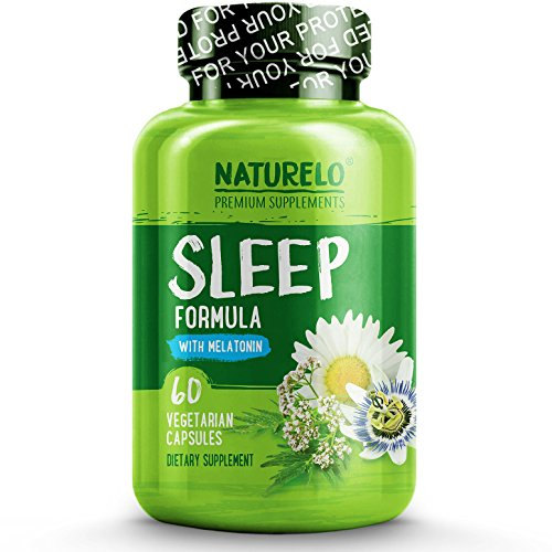 la - with Valerian, Chamomile, Passion Flower, Lemon Balm, Hops & Melatonin - Best Natural Sleeping Aid - Fast Dissolve - 60 Capsules ()