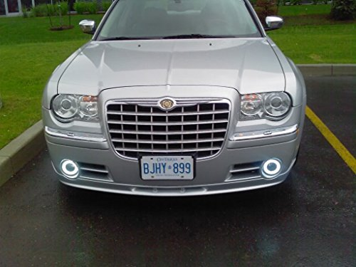 2005 2006 2007 2008 2009 2010 Chrysler 300 300c Halo Fog Lamps Driving Lights Kit