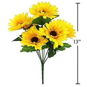 7-stem Sunflowers, Artificial Flower 82