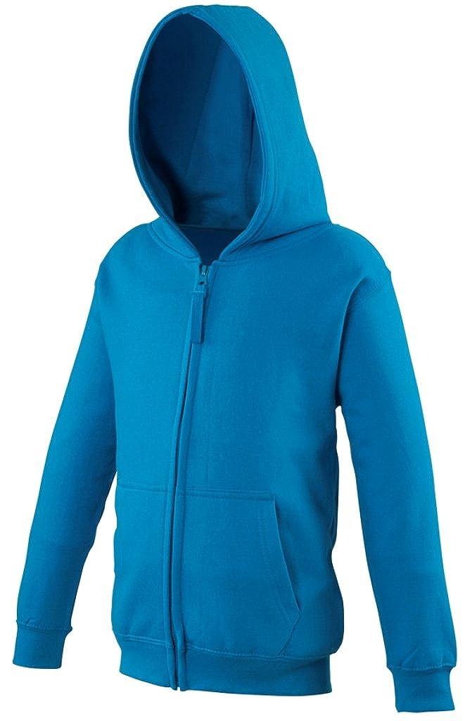 Awdis Big Boys Just Hoods Zoodie Zip Up Hoodie Sweatshirt