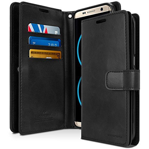 Galaxy S8+ [PLUS] Case, [Extra Card & Cash Holders] GOOSPERY Mansoor Diary [Double Sided Wallet Case] PU Leather [Shockproof] TPU Casing [Drop Protection] Cover for Samsung Galaxy S8 PLUS