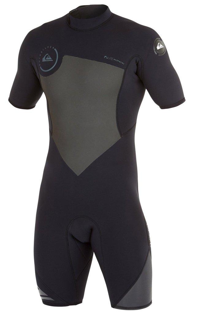 Quiksilver Mens 2/2mm Syncro BZ Springsuit Wetsuit, Black/Graphite, 2X-Large