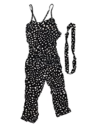 Girls Fashional Condole Jumpsuits+ Belt Kids Clothes Outfits