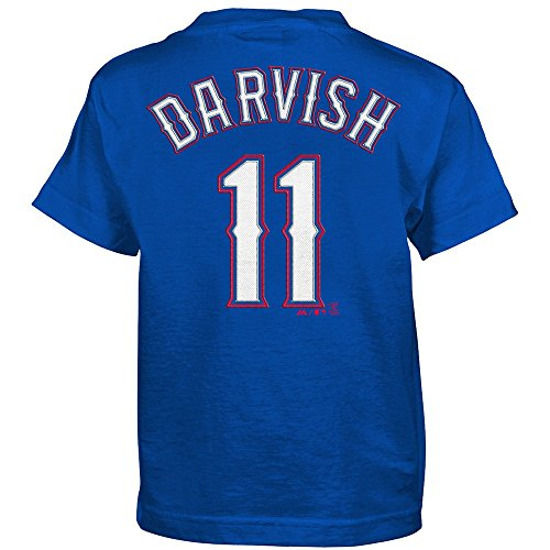 Outerstuff Yu Darvish MLB Majestic Texas Rangers Alternate Blue Jersey T-Shirt Boys (4-7)