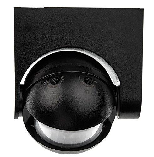 Electraline 58411 - Sensor detector de presencia de movimiento, interruptor crepuscular y timer IP44, color negro: Amazon.es: Bricolaje y herramientas